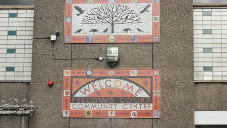 The mosaic at Fellows Court Community Centre. Picture: Groundwork London