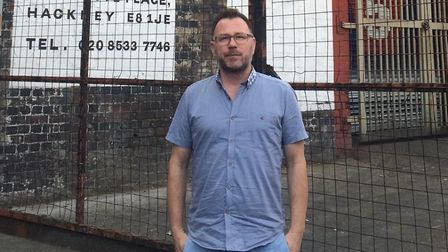 John Denton outside Five Points brewery in Institute Place. Picture: Emma Bartholomew