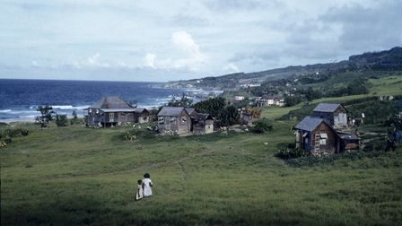 The village of Bathsheba on the Atlantic coast of Barbados, during the 1950s or 60s. Picture: Derek
