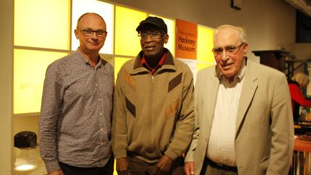 Tim Smith (left) with the chair of the Windrush Foundation, Arthur Torrington, and Derek Smith. Pict