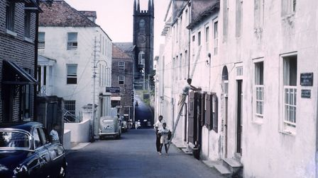 A view of St Andrew's Presbyterian Church, also known as the Scot's Kirk, in St George's, Genada. I