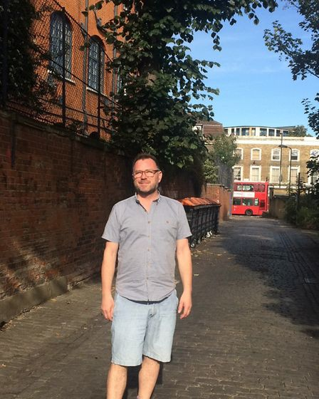 John Denton in Institute Place, where he says lorries pass several times a day to get to Five Points