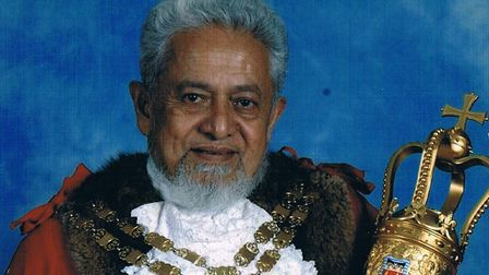 Abdul Mulla, pictured in 2003/4 as speaker of Hackney. Picture: Hackney Council