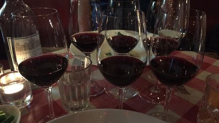 Plenty of red wine to sample at Little Social
