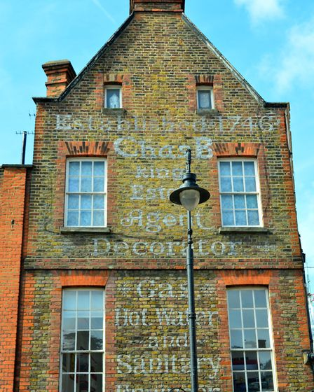 A ghost sign on one of Hampstead's period properties
