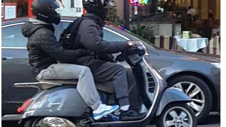 Islington moped offenders in action earlier this year. Picture: CPS