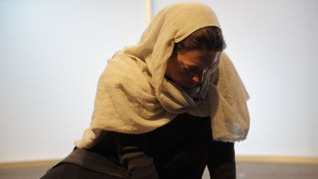 Actress Jessica Butcher during a performance of '�Looking for Mummy: Nazanin's Story' which its prod