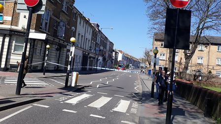 Rectory Road and Evering Road were taped off after the attack. Picture: Zoah Hedges-Stocks