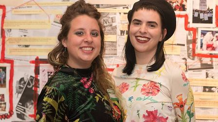 Kat Hudson (right) with Lauren Sweeney at the Light After Dark exhibition in Sutton House. Picture: