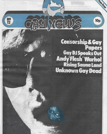 Gay News, issue 12 from 1972, which will be on display in Sutton House for the National Trust's Prej