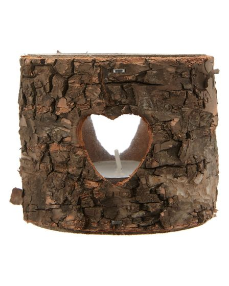 George Home Small Bark Tealight Holder, �3, from Asda.
