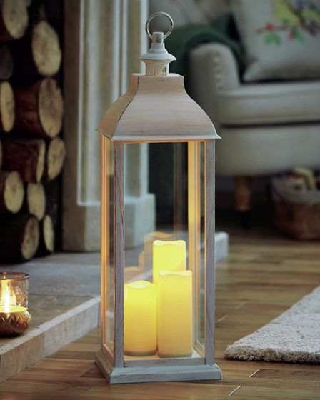 Lantern with LED Candles, �49.95, from House of Bath