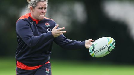 Marlie Packer ran in six tries for Saracens against Worcester Valkyries (pic: Brian Lawless/PA)
