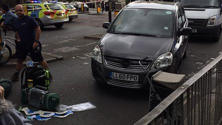 A man is fighting for his life after being hit by a car Picture: Twitter: @mayor_bj