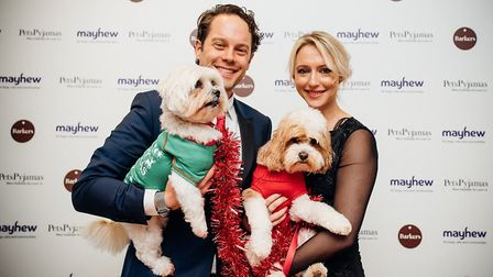 Former Hollyoaks actress Ali Bastian with her dogs Molly and Mable