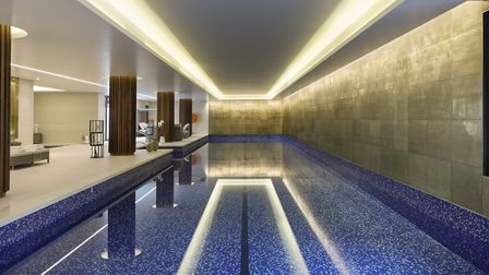 The 25 metre indoor swimming pool open to residents