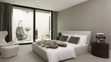 Bedroom layout in one apartment at Buxmead