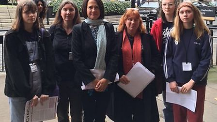 Hornsey and Wood Green students parents and school governors lobbied MP Catherine West today in West