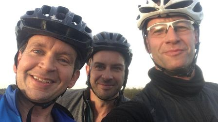 From left Chris Garrett, 39, Peter Strickland, 41, and James Lyons, 43. Picture: James Lyons