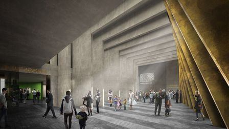 How the museum inside the memorial is set to look. Picture: ADJAYE ASSOCIATES