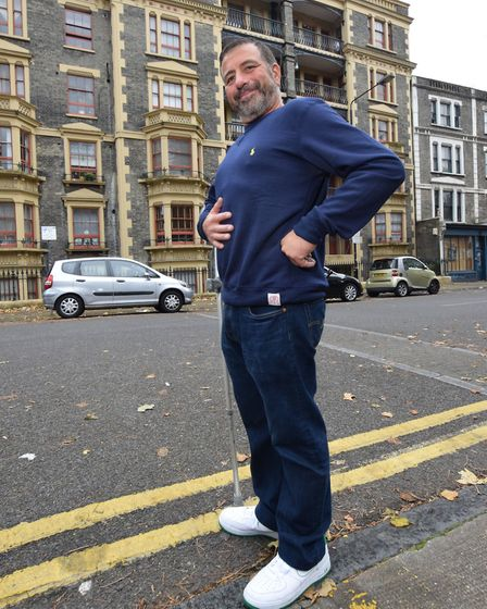 Andrew Banks has lost over 6 stone in weight since February. Picture: Polly Hancock