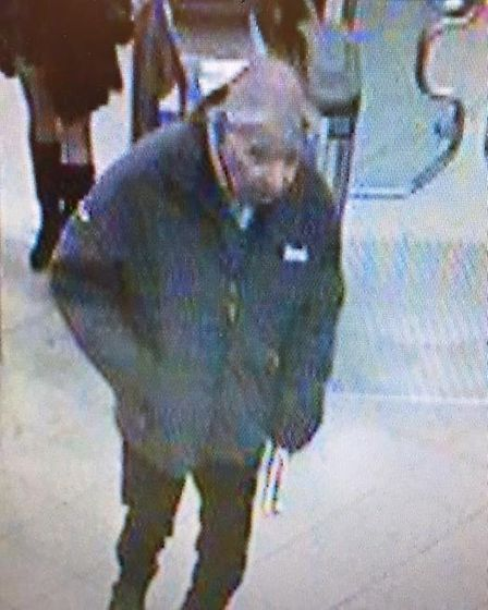 This is a CCTV image captured in Queensway of Mr Gasper. This photo was not captured after his disap