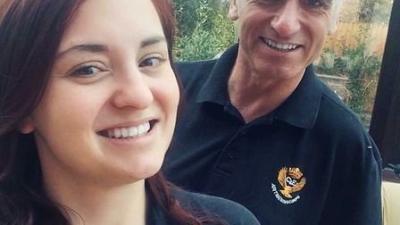 Chloe Smithson with her father Michael, prior to them both being diagnosed with cancer. Picture: Chl