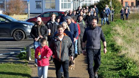 The walk was organised by Drives 4 U Ltd. Picture: Mick Howes