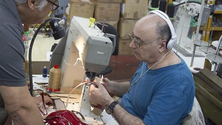 Up to 100,000 ballet shoes, and 30,000 theatrical dance shoes, are made in the factory each year. Pi