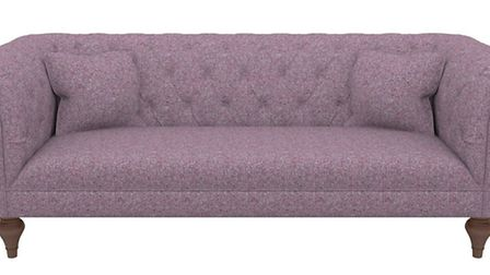 Camden Large Chesterfield sofa, in Taransay Heather, reduced from �2,238 to �2,095, Sofas & Stuff.