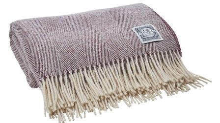 Damson Gin Wool Throw, �69, Tolly McRae