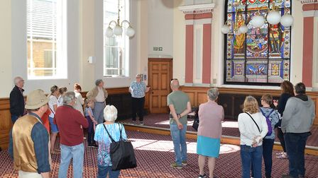 Inside the old council chamber at Lowestoft Town Hall during the Heritage Open Days. Picture: Mick H