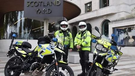The Met's new lightweight BMW motorbikes Picture: MPS