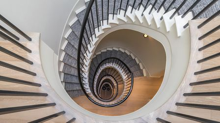 Each home features a grand five storey helical staircase