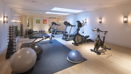 The private gymnasium includes seperate shower and changing facilties