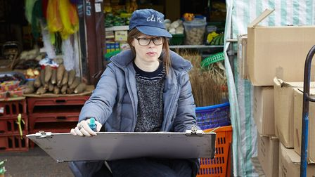 Lucinda Rogers at Ridley Road Market. Picture: Patricia Niven