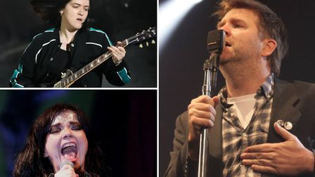 Clockwise from right: LCD Soundsystem's James Murphy, Bjork, and Romy Madley Croft of The xx, all of