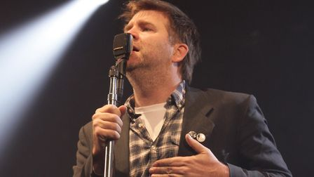 James Murphy of LCD Soundsystem performing on the NME Radio 1 Stage at Reading Festival this year. P