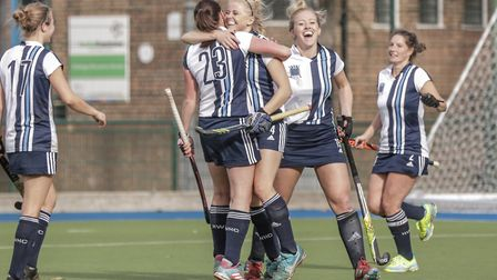 Hampstead & Westminster women celebrate (pic Mark Clews)