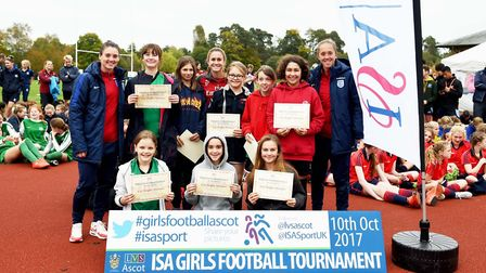 Hampstead's King Alfred School won the under-13 trophy at the LVS Ascot six-a-side tournament (pic V