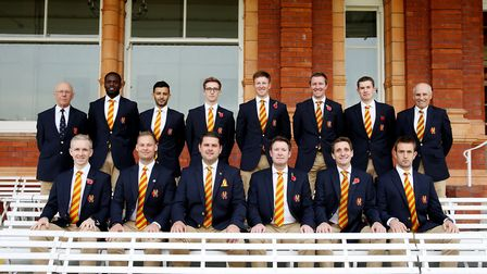 The MCC tour party face the camera at Lord's (pic MCC)