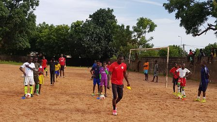 Priory Park coach Saidou Jarju has just returned from coaching children in Senegal for four weeks (p