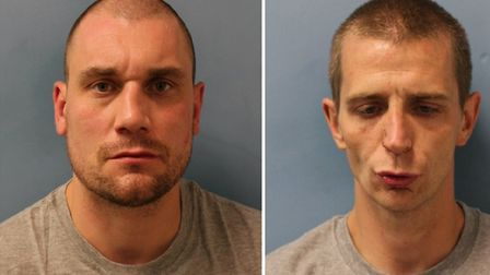 Michael Brothers and James Dixon, who raided a Poundland store and attacked a security guard with a