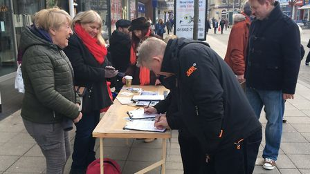 Hundreds of people signed the petition. Photo: James Carr.
