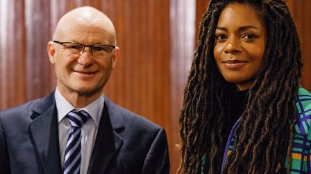 Martin Stone with Muswell Hill actor Naomie Harris