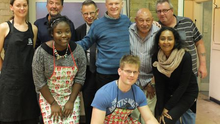 The volunteers at Muswell Hill Churches Soup Kitchen, with organiser Martin Stone (middle).