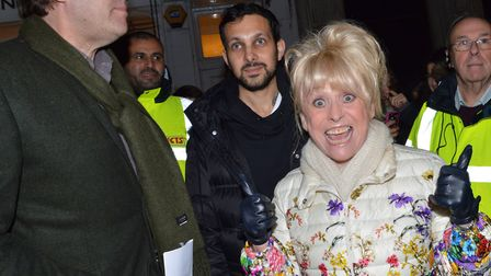 Jonathan Ross, Dynamo and Barbara Windsor switched on the lights at the Hampstead Christmas Festival