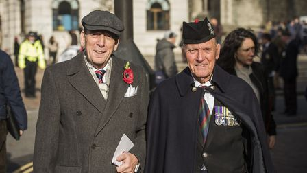 Hundreds turned out for the Remembrance Day parade on Sunday. Picture: Sean Pollock/Hackney Council