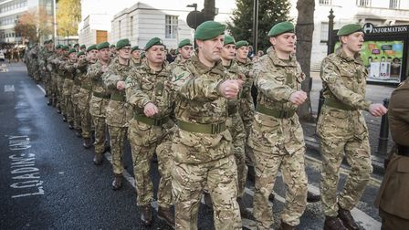 Members of the army. Picture: Sean Pollock/Hackney Council