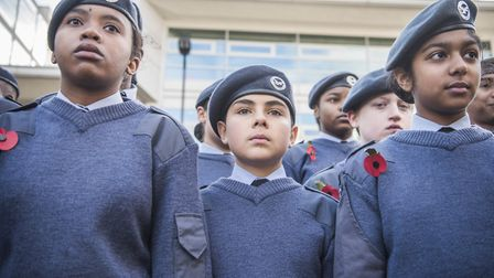 Army cadets at the service. Picture: Sean Pollock/Hackney Council